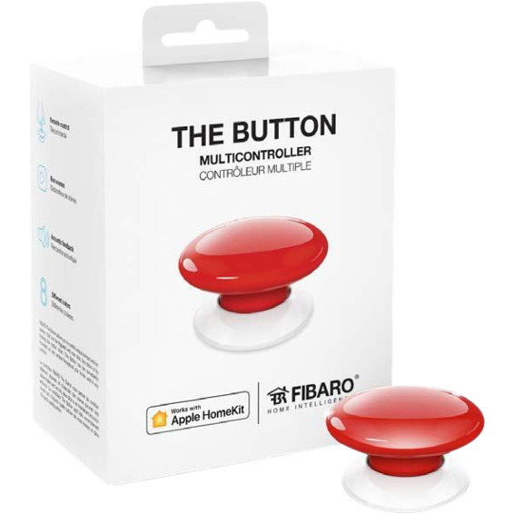 Fibaro The Button Rød Homekit