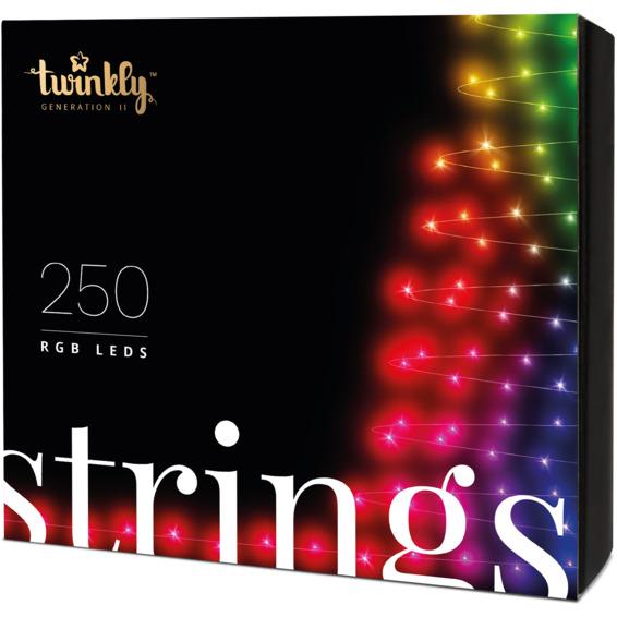 Twinkly Lyslenke RGB, svart, 250 lyskilder 20m