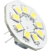 12V G4 baksidepinner 1,5W 9 SMD2835 led pære, varmhvit