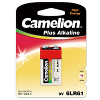 Batteri alkalisk 9V 6LR61A Camelion