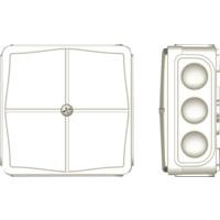 Koblingsboks IP65 hvit tom AquaBest
