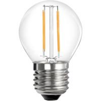 12V E27 B45 2W 2x Filament led pære, varmhvit