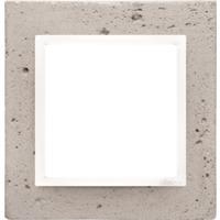 Simon 1-Hulls ramme lys betong/hvit
