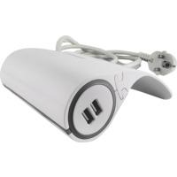 USB Lader og Skjøtekontakt 3m kabel