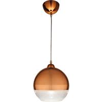 Lux taklampe kobber glassball