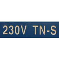 MERKESKILT 230V TN-S 25X80MM (BLÅ)