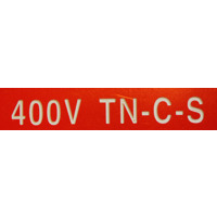 MERKESKILT 400V TN-C-S 25X100MM (RØD) CV020275