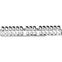 Jordskinne 16 tilkoblingsskruer