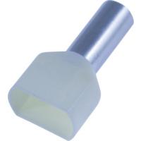 Isolert dobbel endehylse IKY 2x10/14 Elfenben ( 50 pk)