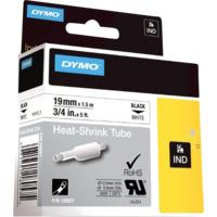 Dymo Rhino 19mm Krympestrømpe hvit med sort trykk