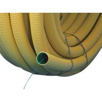 Kabelrør DVR 50mm gul med trekketråd 50m SN8