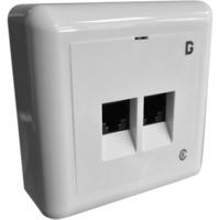 Modularkontakt UTP kat.6 P 2xRJ45 Hvit dGLink