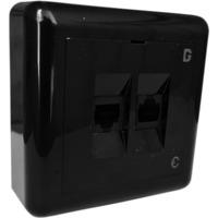 Modularkontakt UTP kat.6 P 2xRJ45 Sort dGLink