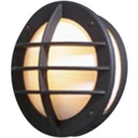 Oden Vegglampe sort m/stikk,opal,E27,IP23