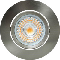 Alfa LED Downlight 10W Børstet stål IP44