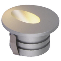 Step LED Gulv/trappelys 3W m/driver Sølv IP44
