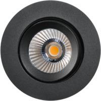 Alfa reflektor 360-tilt Downlight  8W matt sort