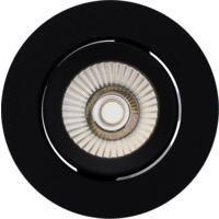 Alfa reflektor 360-tilt Downlight  8W matt sort 4000K
