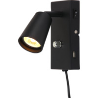 KONY LED USB Vegg Matt Sort