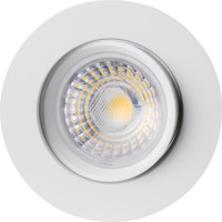 Alfa 360-tilt Downlight 8W matt hvit