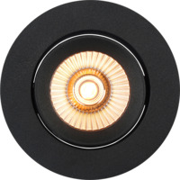 Alfa reflektor 360-tilt Downlight Warmdim 8W matt sort
