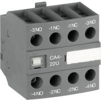 Hjelpekontakt CA4-40U, 4NO frontmontert ABB