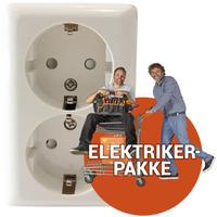 Ferdig montert Ekstra dbl. stikkontakt m/j innvendig