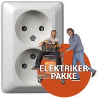 Ferdig montert Ekstra dbl. stikkontakt u/j innvendig