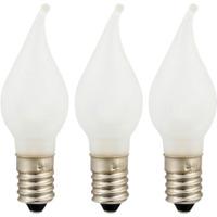 Reservelampe E10 LED Universal Matt Flamme 3-pk