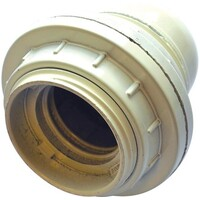 LAMPEHOLDER E27 HVIT M/RINGER