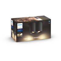 Philips Hue WA Pillar Dobbel Spot 2x5.5W Sort ink dim