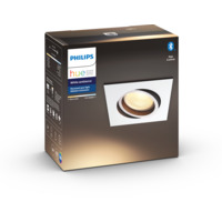 Philips Hue WA Milliskin Firkantet Downl 5.5W Hvit