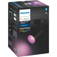 Philips Hue WCA Fugato Enkel Spotlight Sort 5.7W BLT