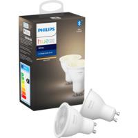 Philips Hue W GU10 Lyskilde 6W 2pk BLT