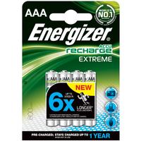 Batteri Oppladbar Extreme AAA HR3 800 mAh 4pk Energizer