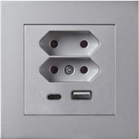 Plus USB lader/2xEuro I ALU