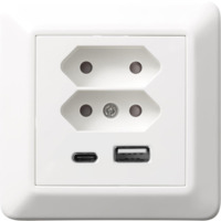 RS16 USB lader/2xEuro I PH