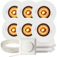 Komplett Alfa WarmDim Downlightpakke Matt Hvit 6 pk