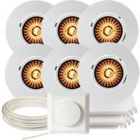 Komplett Altea Tilt WarmDim Downlightpakke Matt Hvit 6 pk