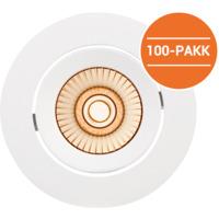 Alfa reflektor LED warmdim 10W matt hvit IP44 100PK