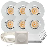Komplett Altea Tilt LED Downlightpakke Matt Hvit 6 pk V2