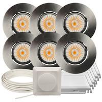 Komplett Altea Tilt LED Downlightpakke B. Stål 6 pk V2
