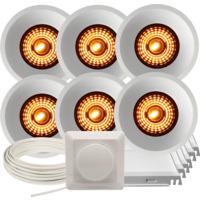 Komplett Alfa Soft Trimless Warmdim DL pakke Hvit 6 pk