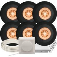 Komplett Alfa Reflektor Soft Warmdim DL pakke Sort 6 pk