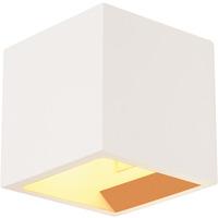 SLV Plastra Cube Vegglampe Gips Hvit