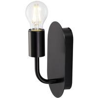 SLV Fitu Vegglampe u/Skjerm E27 Sort