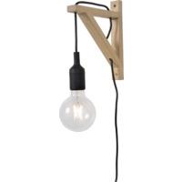 Lucide Fix Vegglampe E27 Tre/Sort