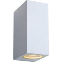 Lucide Zora 1 Utendørs Vegglampe 2xGU10 5W Hvit