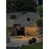 Lucca Lounge E27 svart metall skjerm 130cm