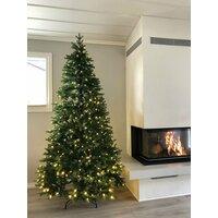 Kunstig juletre med lys 210cm - 100% PE